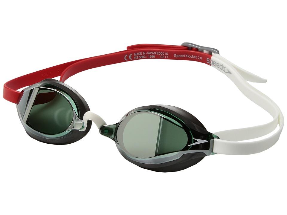 Speedo Speed Socket 2.0 Mirrored (Fiery Red) Water Goggles
