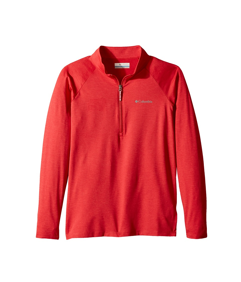 Columbia Kids - Silver Ridge 1/4 Zip (Little Kids/Big Kids) (Bright Red Heather) Boys Long Sleeve Pullover