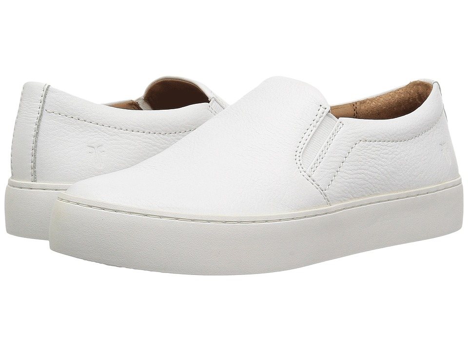 Frye Lena Slip-On (White Tumbled Cow) Slip-On Shoes
