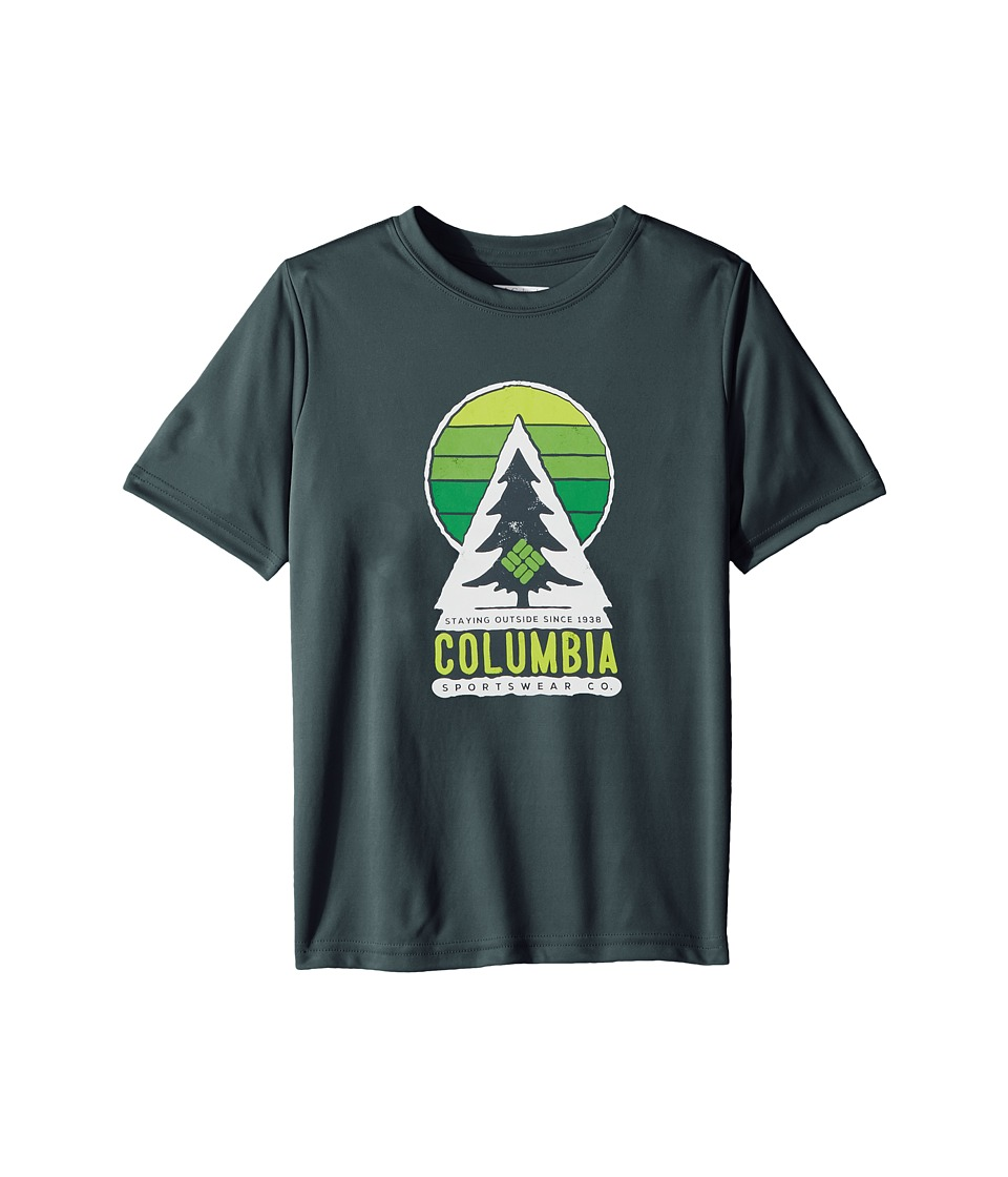 Columbia Kids - Always Outside Short Sleeve Shirt (Little Kids/Big Kids) (Mystery/Tree Graphic) Boys T Shirt