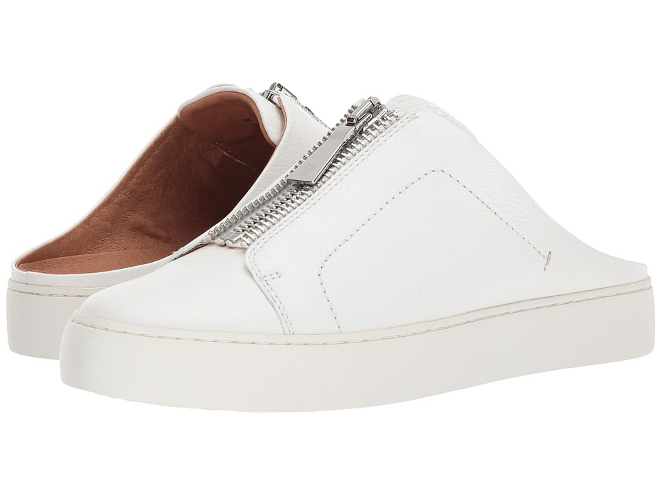 Frye Lena Zip Mule (White Tumbled Cow) Women's Clog/Mule Shoes