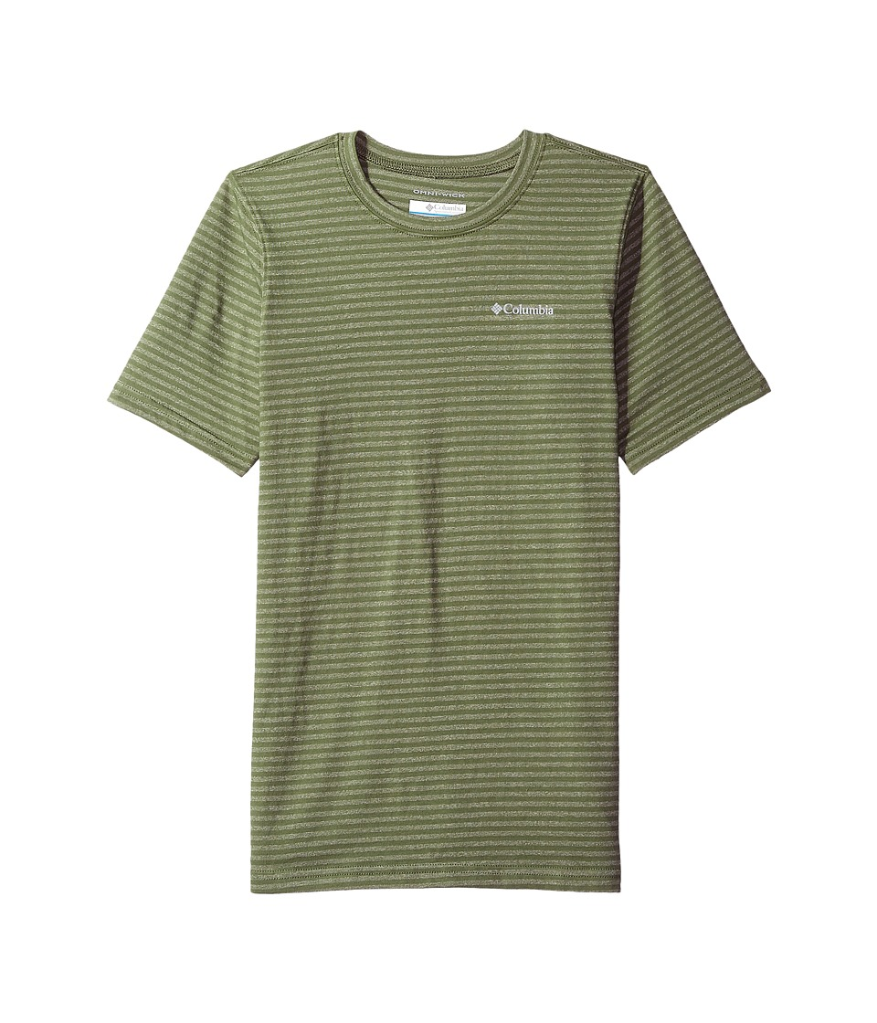 Columbia Kids - Cullman Crest Striped Tee (Little Kids/Big Kids) (Mosstone Stripe) Boys T Shirt