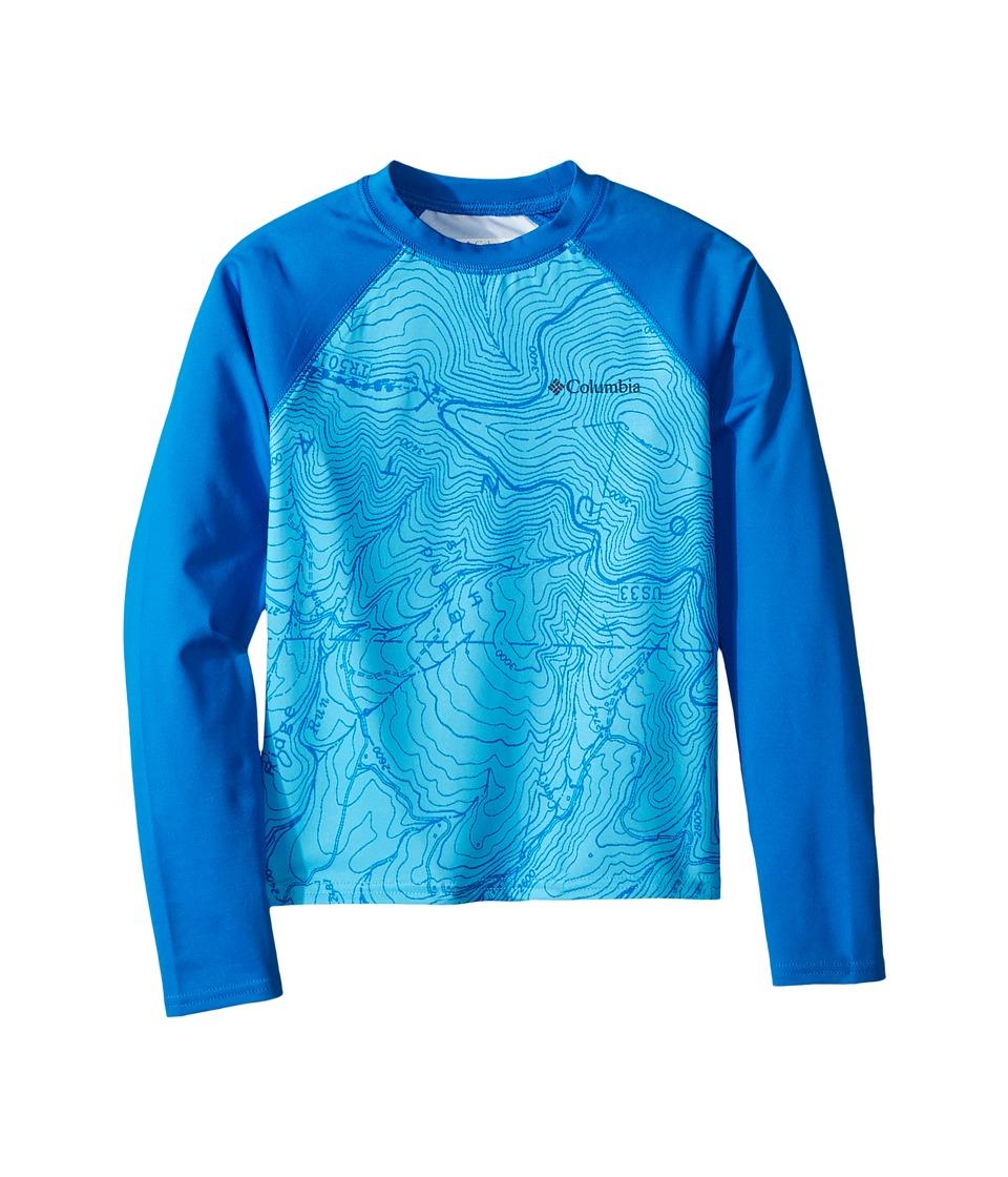 Columbia Kids - Mini Breaker Printed Long Sleeve Sunguard (Little Kids/Big Kids) (Riptide Forest Print) Boys Swimwear