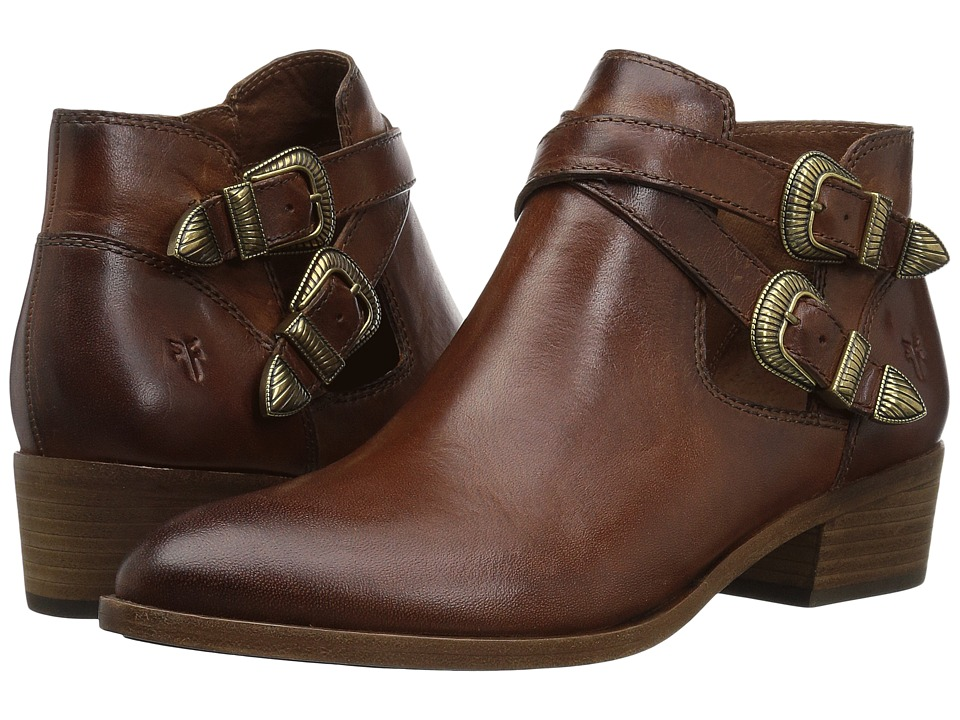 Frye Ray Western Shootie (Cognac Washed Antique Pull Up) Women's Pull-on Boots