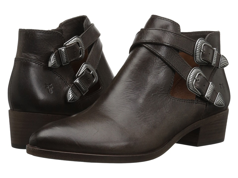 Frye Ray Western Shootie (Slate Washed Antique Pull Up) Women's Pull-on Boots