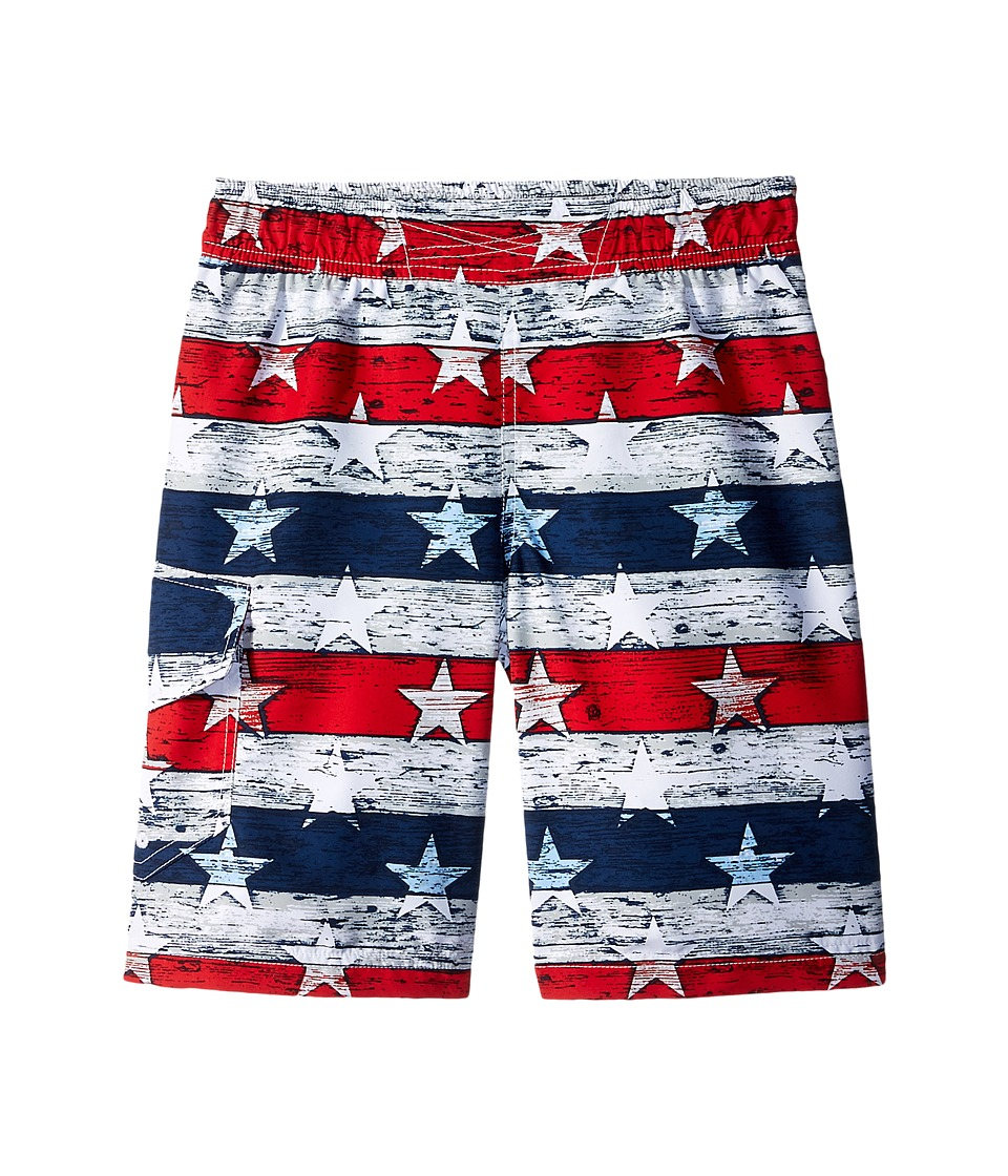Columbia Kids - Solar Streamtm II Boardshort (Little Kids/Big Kids) (White Stars & Stripes) Boys Swimwear