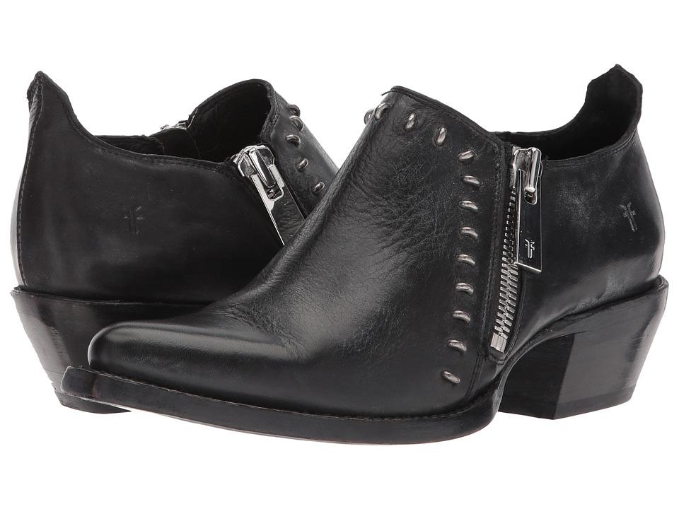 Frye - Sacha Rebel Shootie (Black Waxed Full Grain) Womens Pull-on Boots