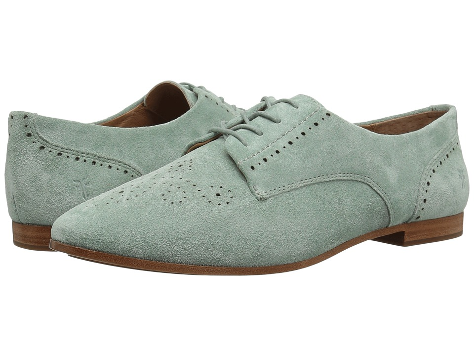 Frye Terri Perf Oxford (Mint Oiled Suede) Women's Lace Up Wing Tip Shoes