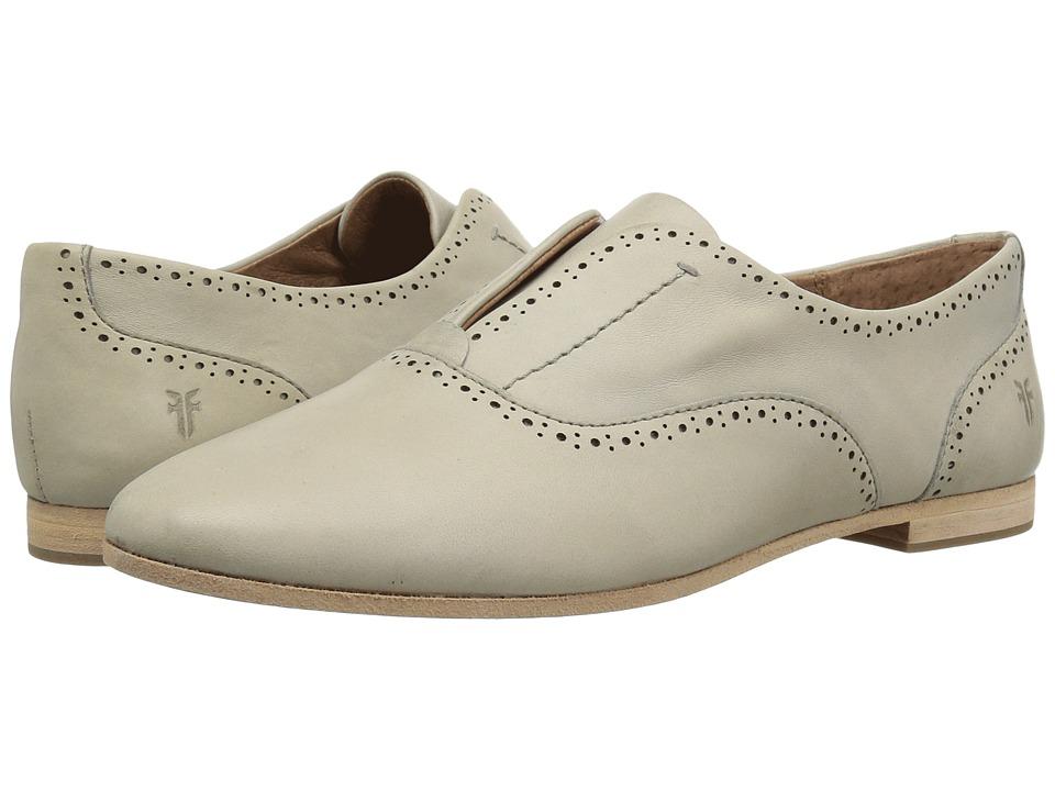 Frye - Terri Perf Slip-On (Grey Veg Tanned Sheepskin) Womens Slip-on Dress Shoes