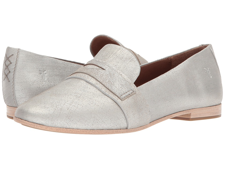 Frye Terri Penny Loafer (Silver Metallic) Women's Slip-on...