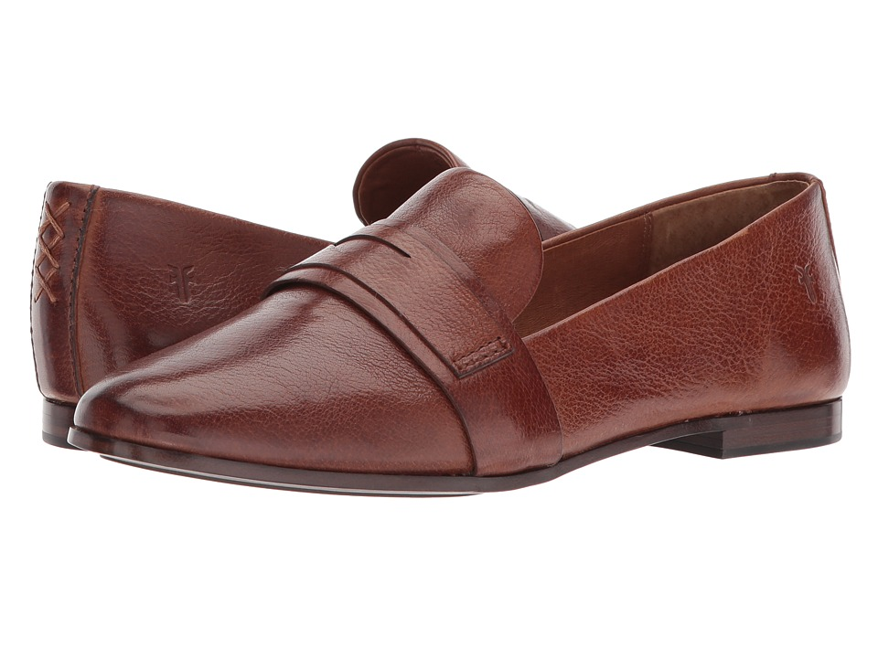Frye Terri Penny Loafer (Cognac Tumbled Buffalo) Women's ...