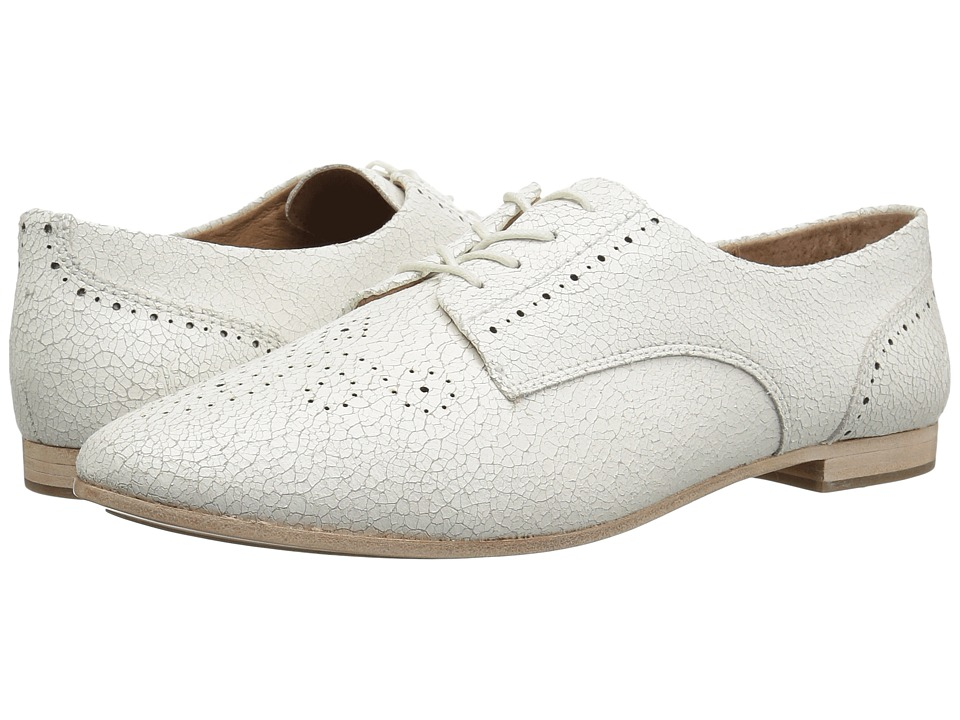 Frye Terri Perf Oxford (White Crackle) Women's Lace Up Wing Tip Shoes
