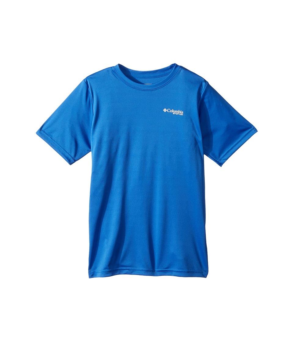Columbia Kids - PFG Americana Scales Short Sleeve Shirt (Little Kids/Big Kids) (Vivid Blue Flag Graphic) Boys T Shirt