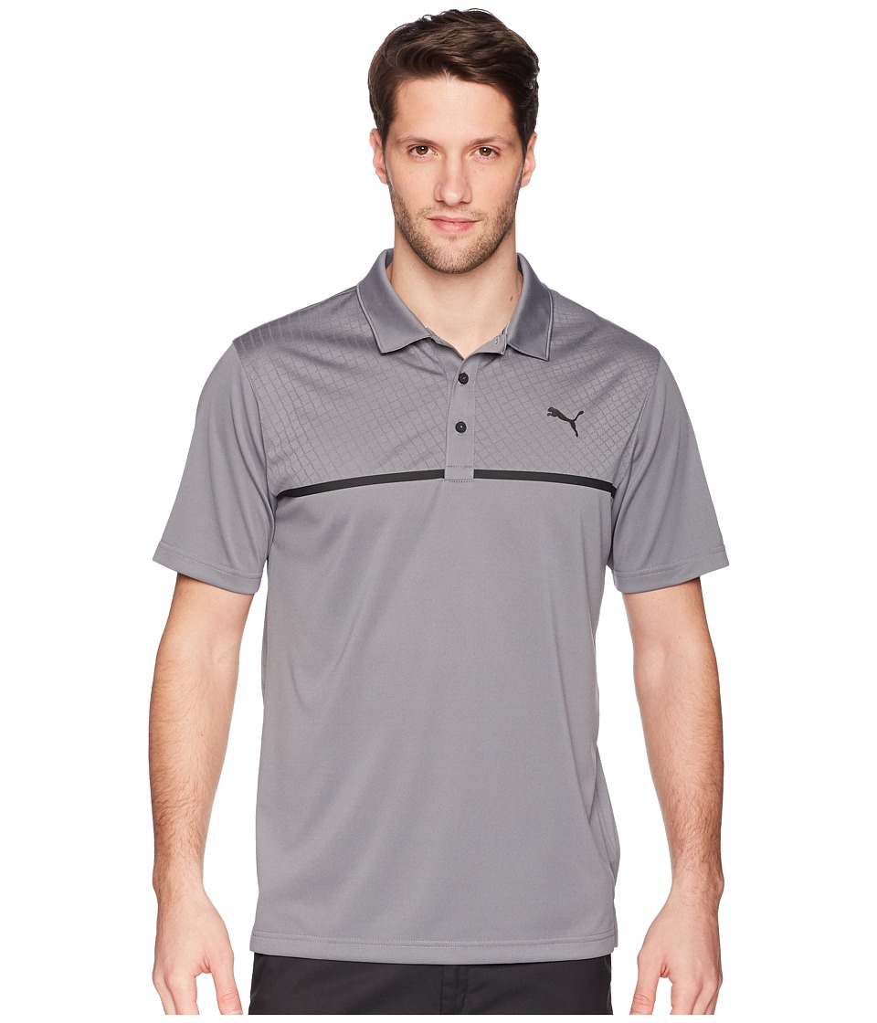 PUMA Golf - Nardo Grey Polo (Quiet Shade) Mens Short Sleeve Pullover