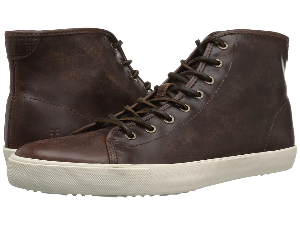 Frye - Brett High (Redwood Washed Smooth Pull Up) Mens Lace up casual Shoes