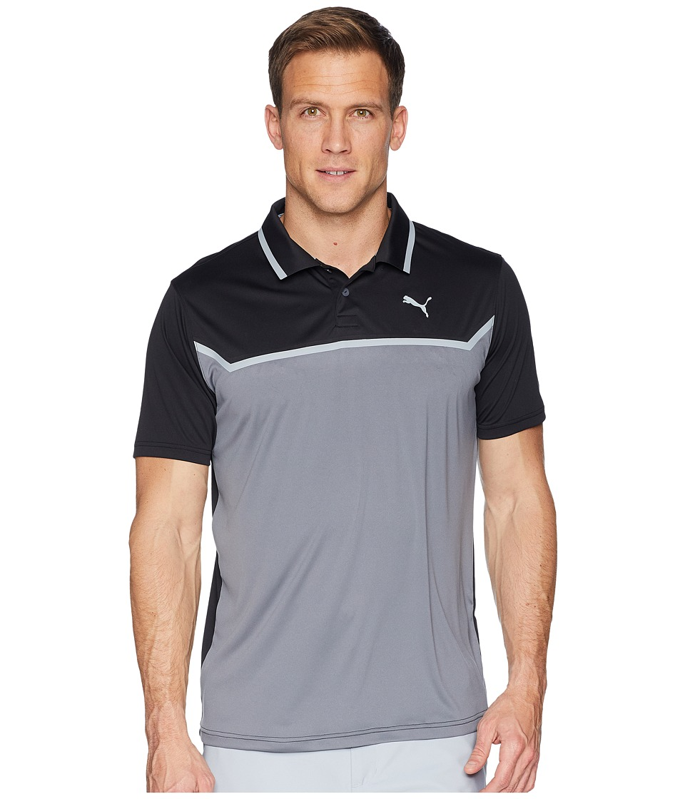 PUMA Golf - Bonded Tech Polo (Puma Black/Quiet Shade) Mens Short Sleeve Pullover