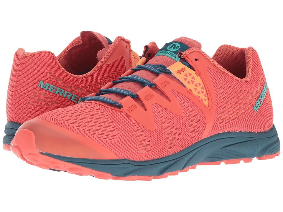 MerrellRiveter E-Mesh  (Hot Coral) Womens Shoes