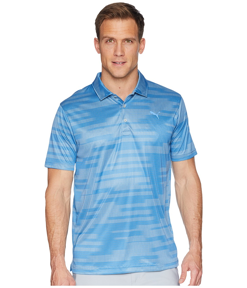 PUMA Golf - PWRCOOL Blur Polo (Marina) Mens Short Sleeve Pullover