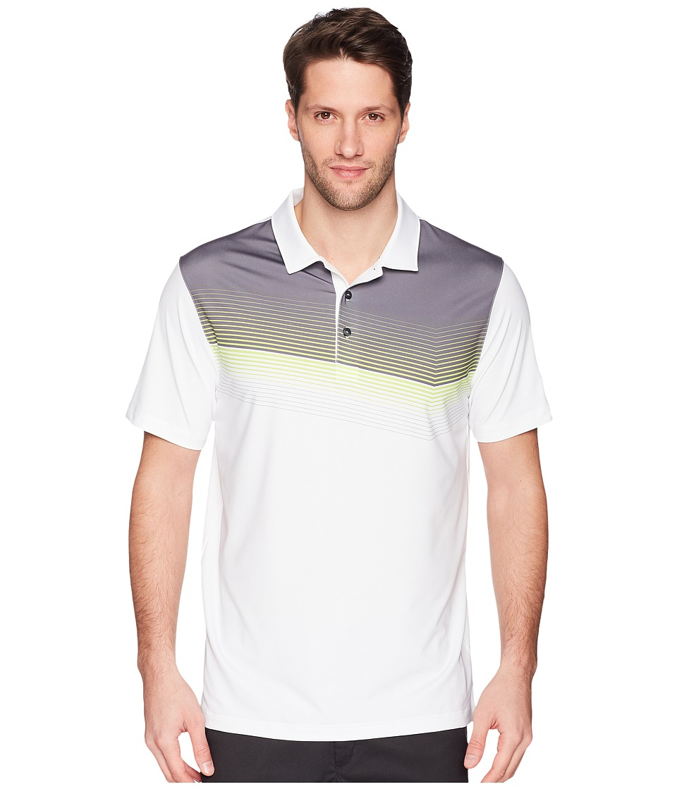 PUMA Golf - Road Map Polo (Bright White/Acid Lime) Mens Short Sleeve Knit