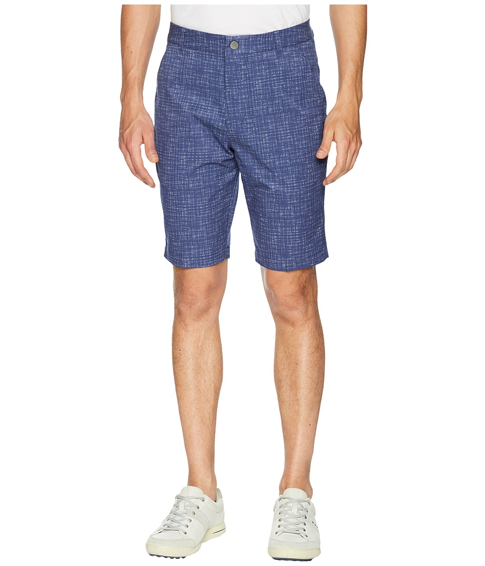 PUMA Golf - PWRCOOL Mesh Plaid Shorts (Peacoat) Mens Shorts