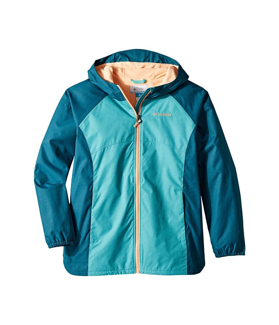 Columbia Kids Endless Explorer Jacket (Little Kids/Big Kids) (Geyser/Aegean Sea) Girl