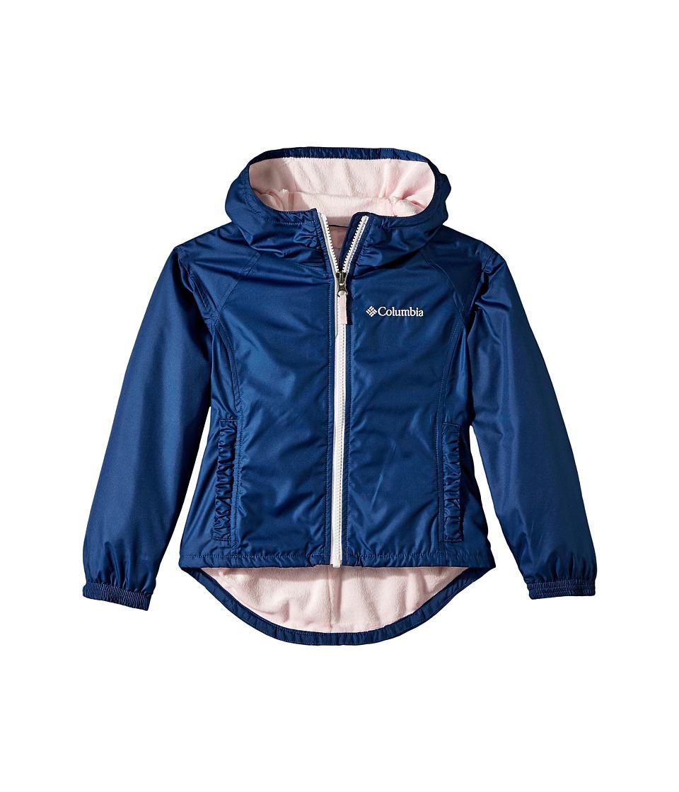 Columbia Kids - Ethan Pondtm Jacket (Little Kids/Big Kids) (Carbon/Whitened Pink) Girls Coat