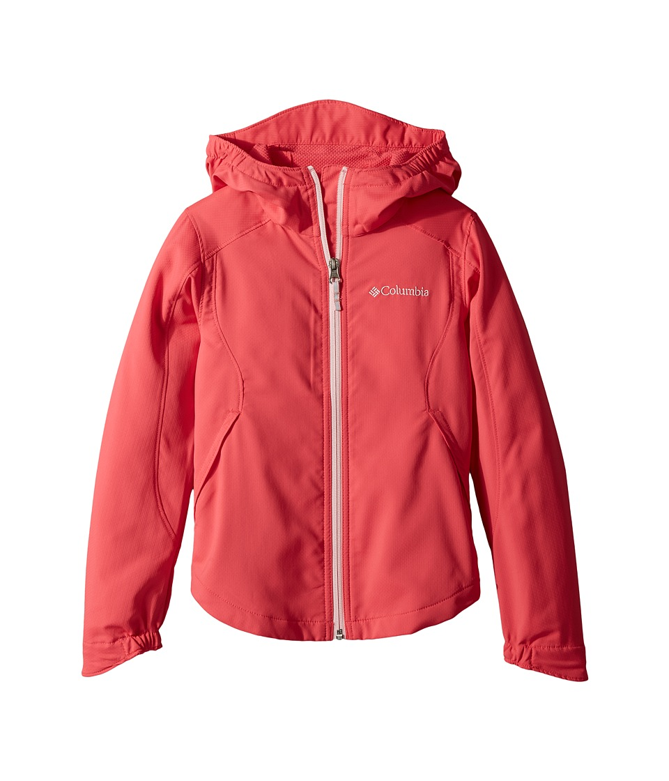 Columbia Kids Splash Flashtm II Hooded Softshell Jacket (Little Kids/Big Kids) (Punch Pink/Cherry Blossom) Girl