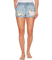 ROMEO & JULIET COUTURE - Floral Embroidery Denim Shorts