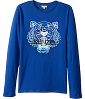 Kenzo Kids - Tiger Long Sleeves Tee Shirt (Big Kids)