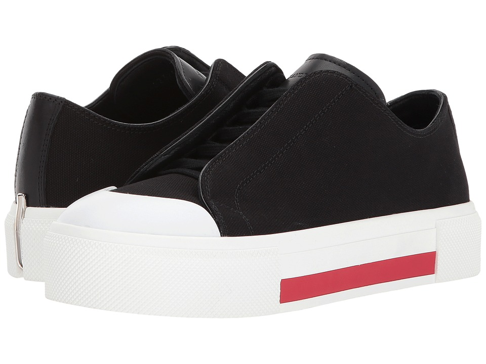 Alexander McQueen Low Cut Lace-Up Sneakers (White/Red/Black) Women