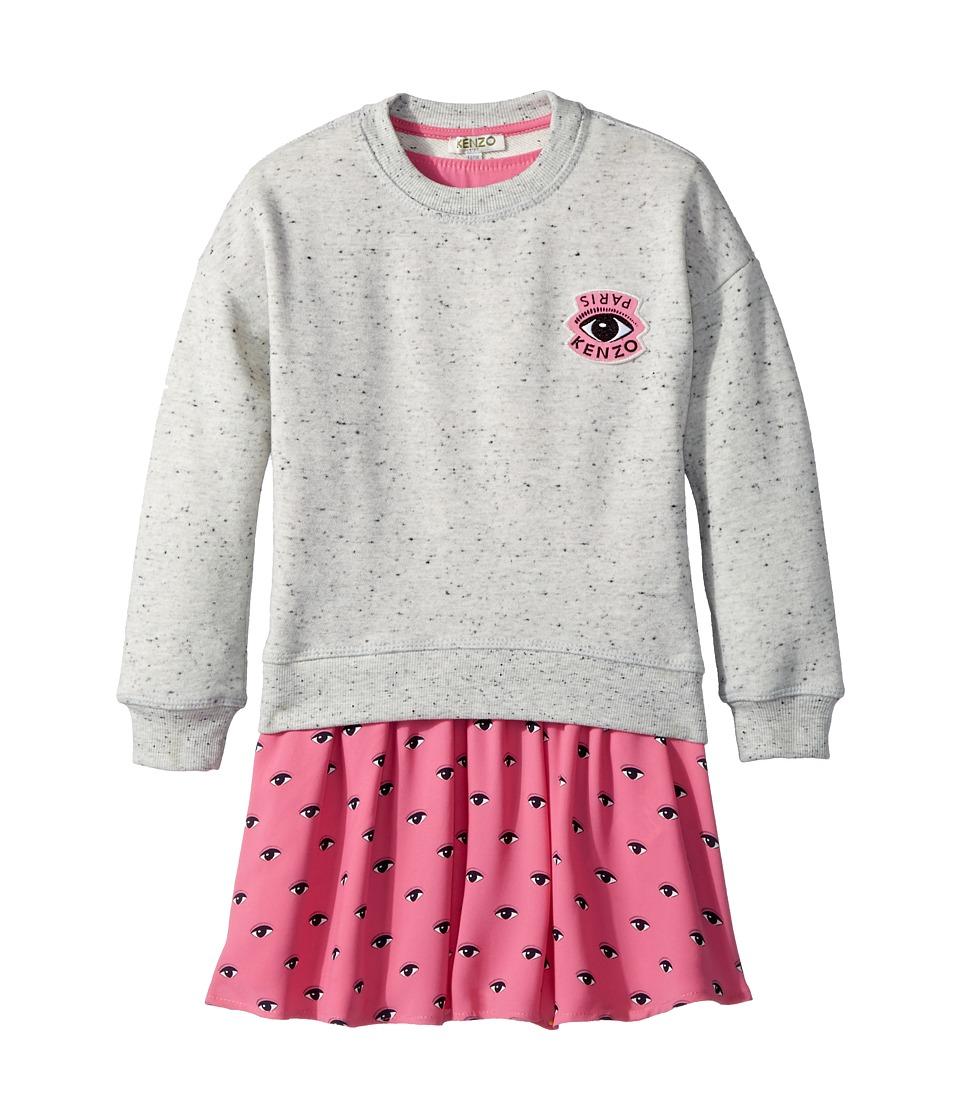 Kenzo Kids - Sweat and Eyes Pink Skirt Dress