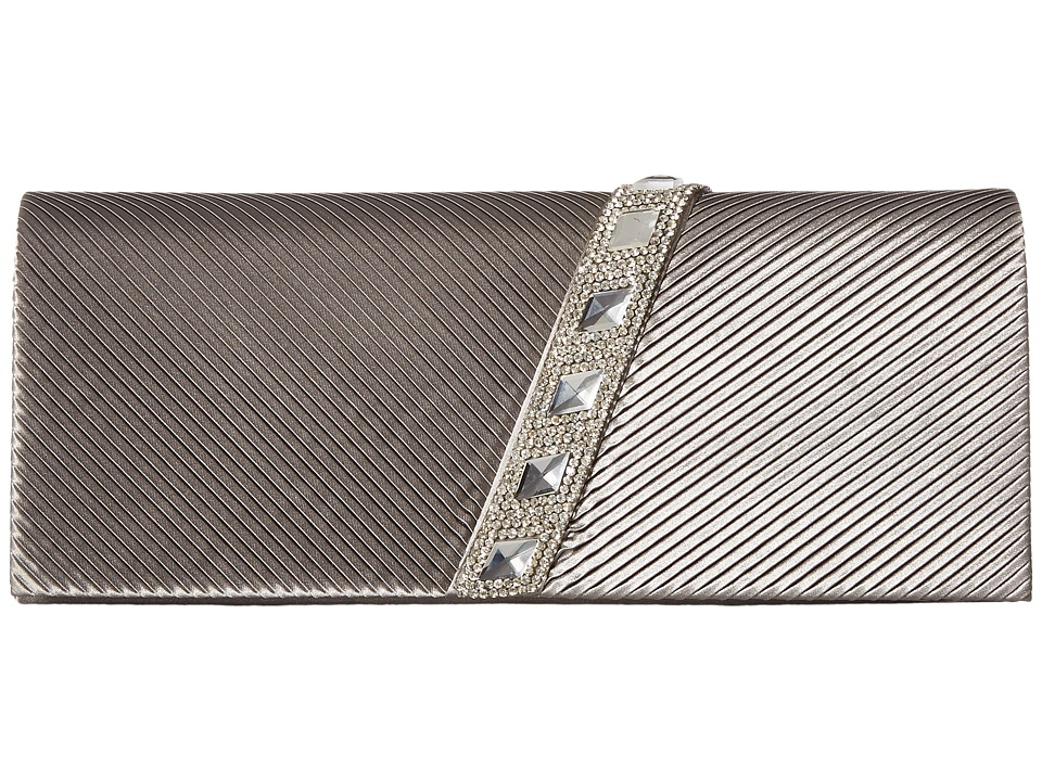 Jessica McClintock - Nancy Satin Pleated Clutch with Rhinestones