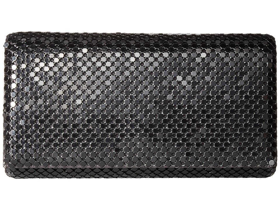 Jessica McClintock - East/West Metal Mesh Roll Bag (Black) Cross Body Handbags