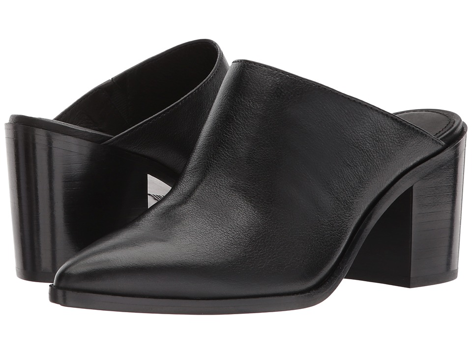 Frye Flynn Mule (Black Tumbled Buffalo) Women's Clog/Mule Shoes