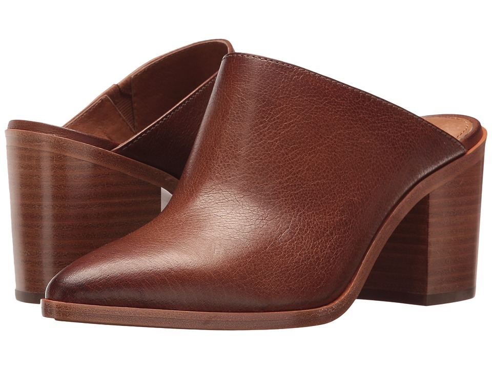 Frye Flynn Mule (Cognac Tumbled Buffalo) Women's Clog/Mule Shoes