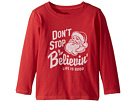 Life is Good Kids Don't Stop Believin' Santa Long Sleeve Crusher Tee (Toddler)