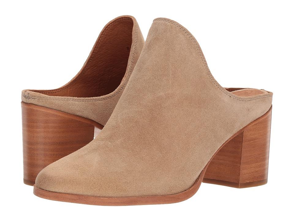 Frye Naomi Mule (Beige Oiled Suede) Women's Clog/Mule Shoes