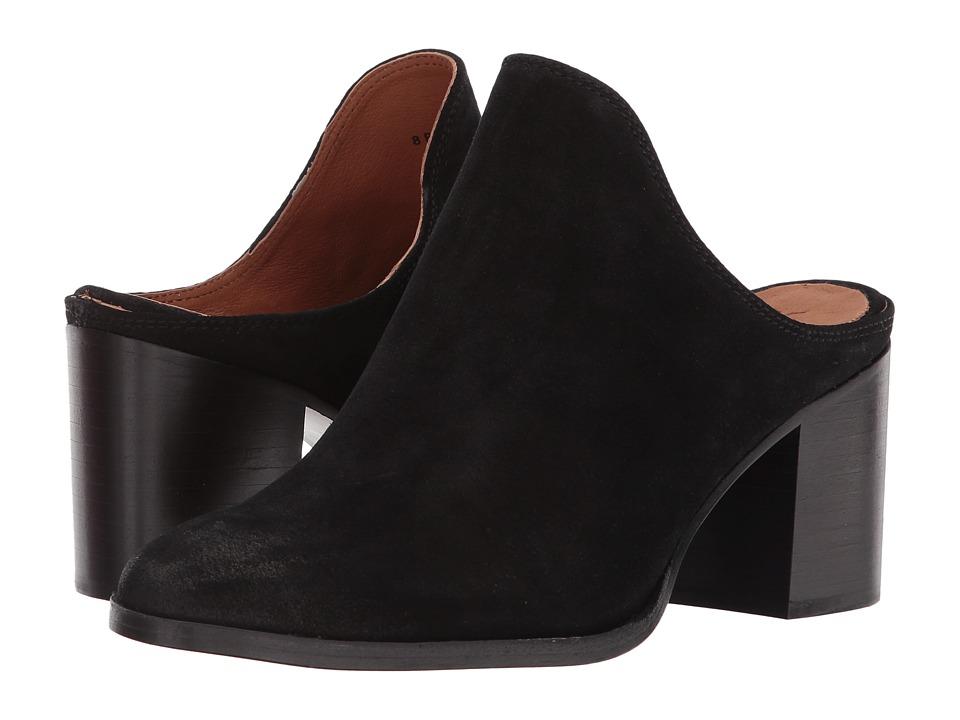 Frye Naomi Mule (Black Oiled Suede) Women's Clog/Mule Shoes