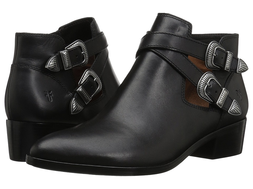 Frye Ray Western Shootie (Black Smooth Vintage Leather) Women's Pull-on Boots