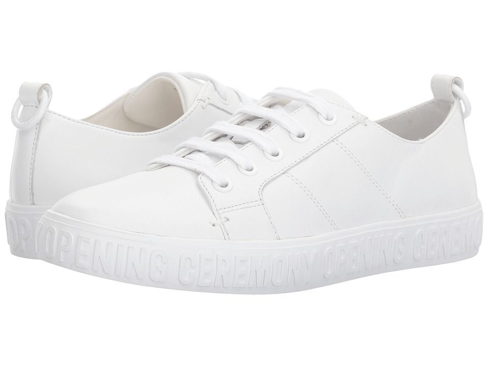 Opening Ceremony - La Cienega Low Top Sneaker (White) Womens Lace up casual Shoes