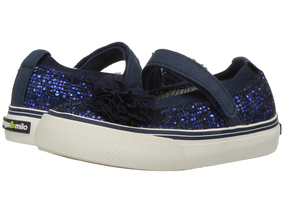 Morgan + Milo Twinkle Mary Jane (Toddler/Little Kid) (Navy) Girls Shoes