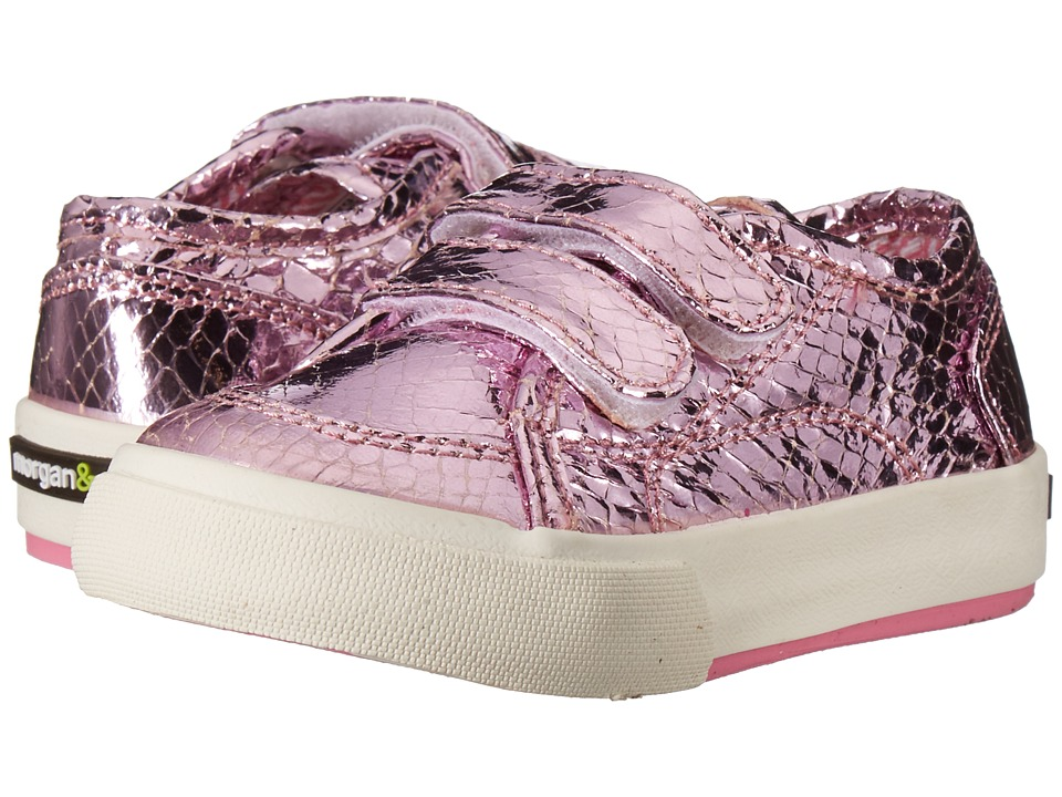 Morgan + Milo Lucy Double V (Toddler/Little Kid) (Pink) Girls Shoes