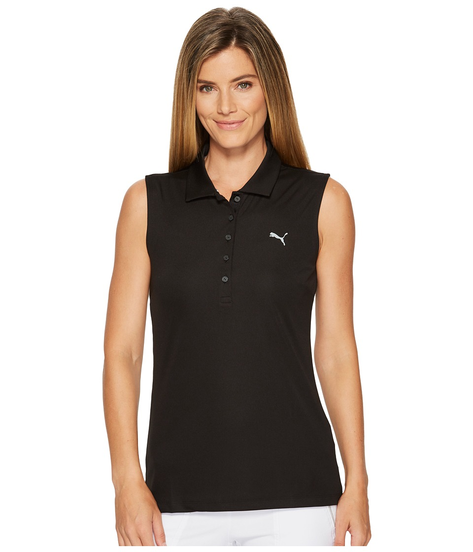 PUMA Golf - Sleeveless Pounce Polo (PUMA Black) Womens Sleeveless