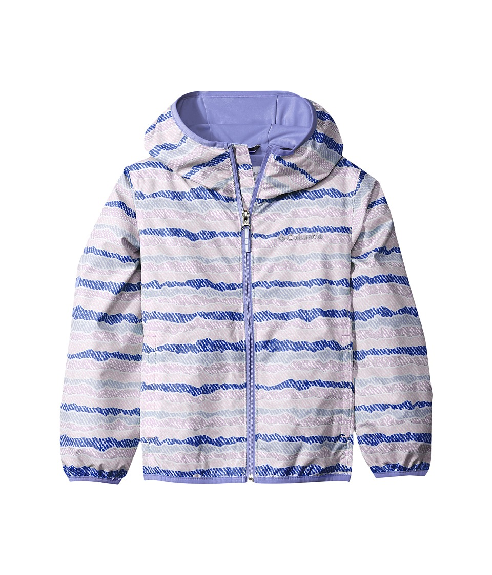 Columbia Kids Pixel Grabbertm II Wind Jacket (Little Kids/Big Kids) (Clematis Blue Stripe/Fairytale) Girl