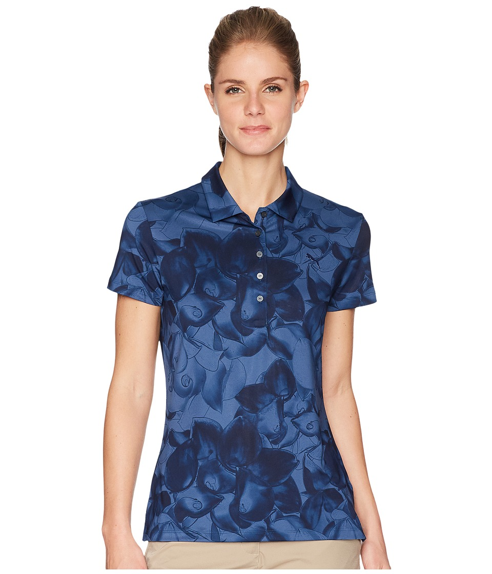PUMA Golf - Bloom Polo (Peacoat) Womens Short Sleeve Pullover