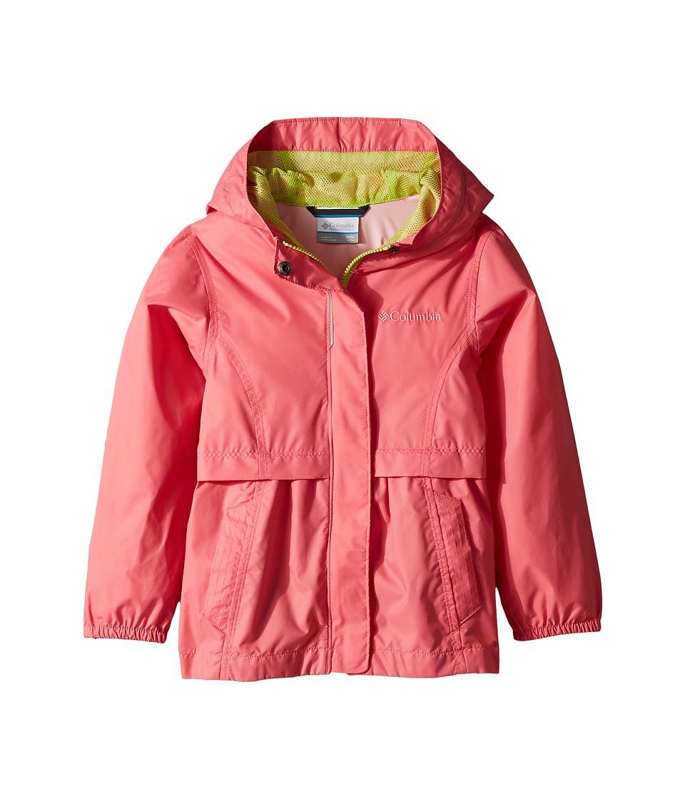 Columbia Kids Pardon My Trench Rain Jacket (Little Kids/Big Kids) (Lollipop/Green Glow) Girl