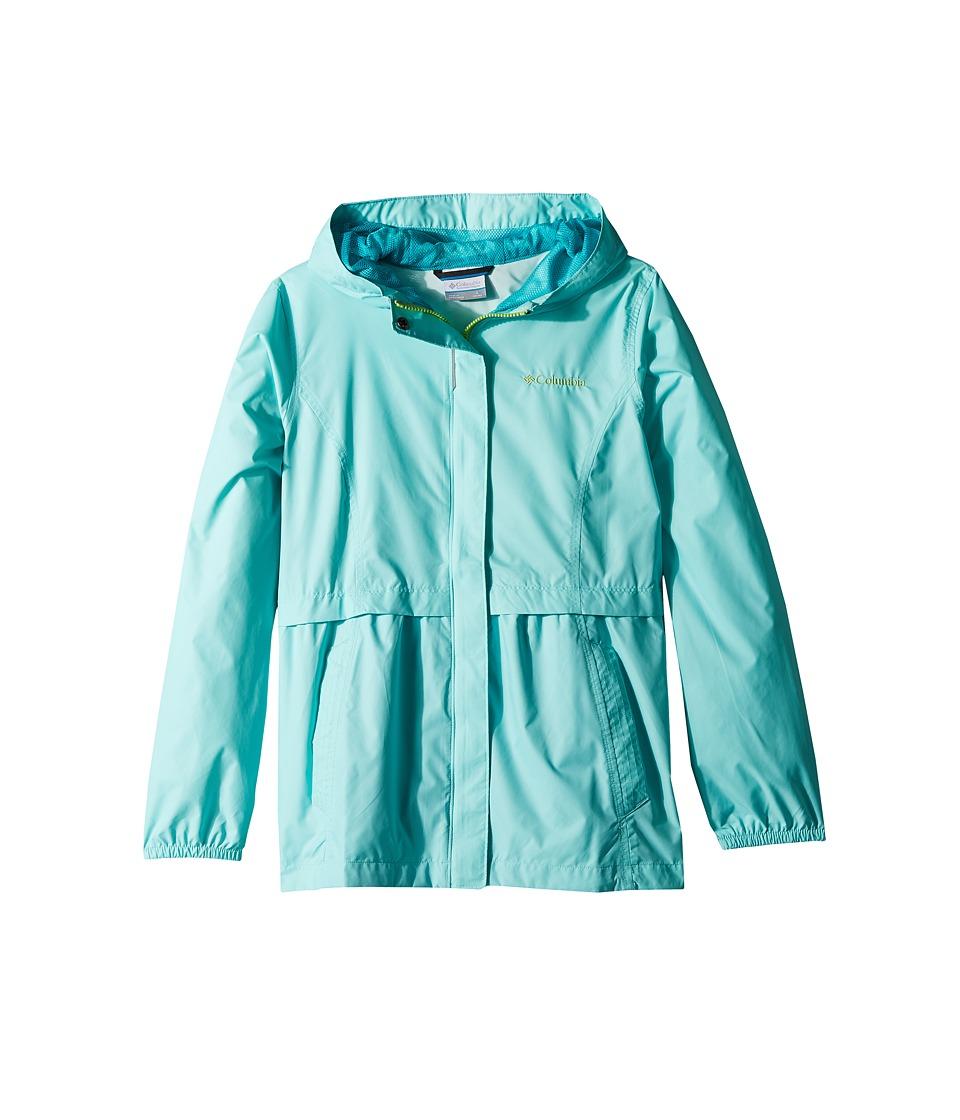 Columbia Kids Pardon My Trench Rain Jacket (Little Kids/Big Kids) (Candy Mint/Geyser) Girl