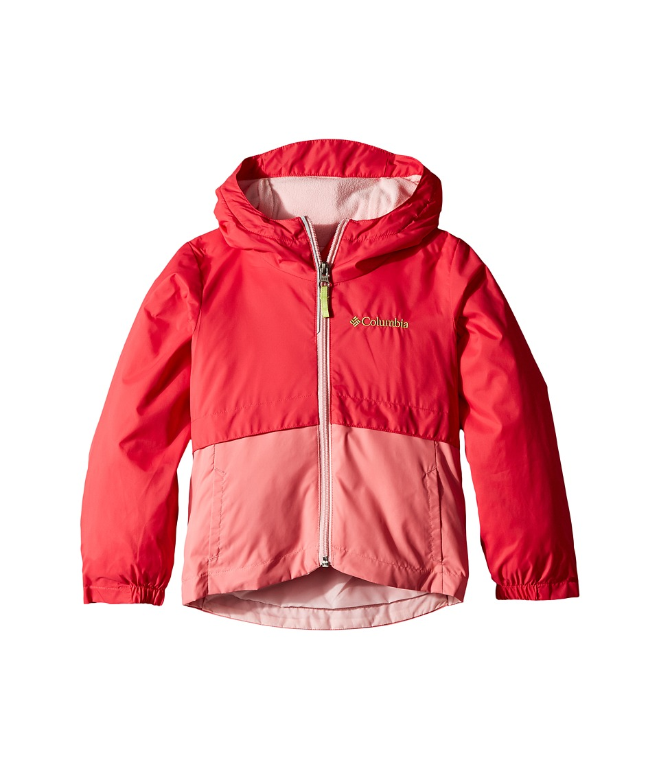 Columbia Kids - Rain-Zillatm Jacket (Little Kids/Big Kids) (Punch Pink/Lollipop/Cherry Blossom/Green Glow Logo) Girls Coat