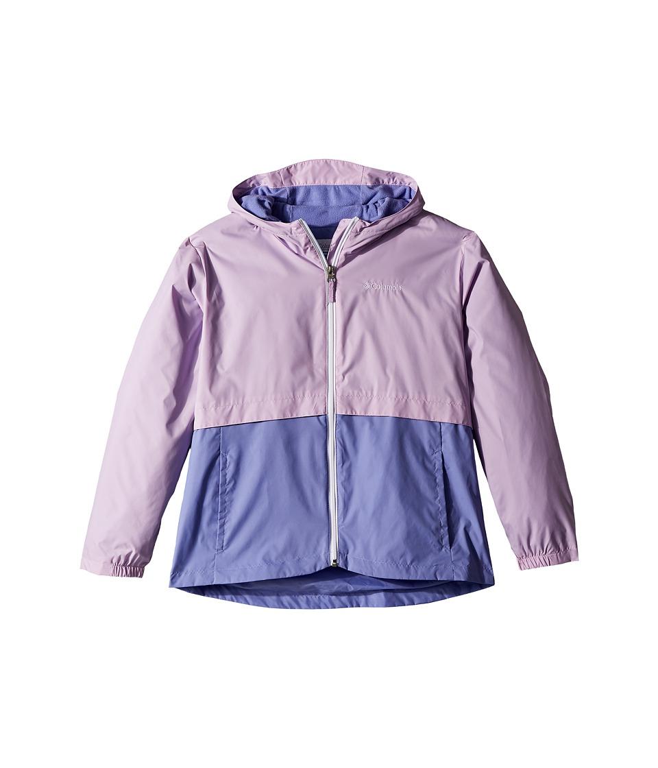 Columbia Kids Rain-Zillatm Jacket (Little Kids/Big Kids) (Phantom Purple/Fairytale/White Logo) Girl