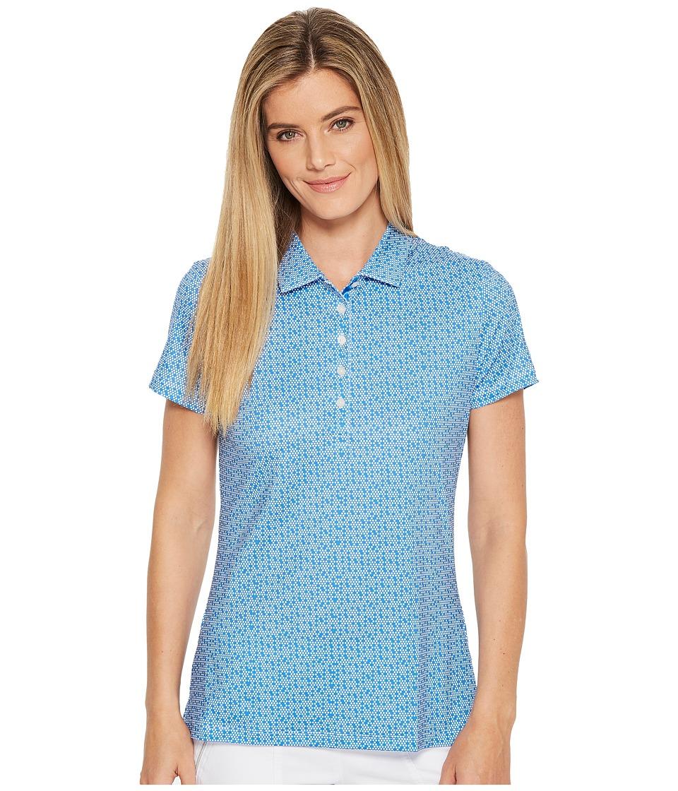 PUMA Golf - Polka Dot Polo (Nebulas Blue) Womens Short Sleeve Pullover